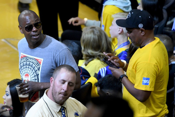 Comedian Dave Chappelle attends Game 2 of the 2017 NBA Finals at ORACLE Arena on June 4, 2017 in Oakland, California.