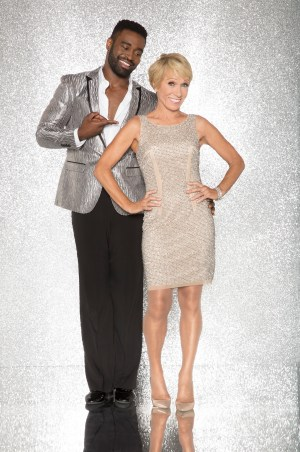 """DANCING WITH THE STARS - KEO MOTSEPE AND BARBARA CORCORAN - The celebrity cast of """"Dancing with the Stars"""" are donning their glitzy wardrobe and slipping on their dancing shoes as they ready themselves for their first dance on the ballroom floor, as the season kicks off on MONDAY, SEPTEMBER 18 (8:00-10:01 p.m. EST), on the ABC Television Network. (ABC/Craig Sjodin)"""