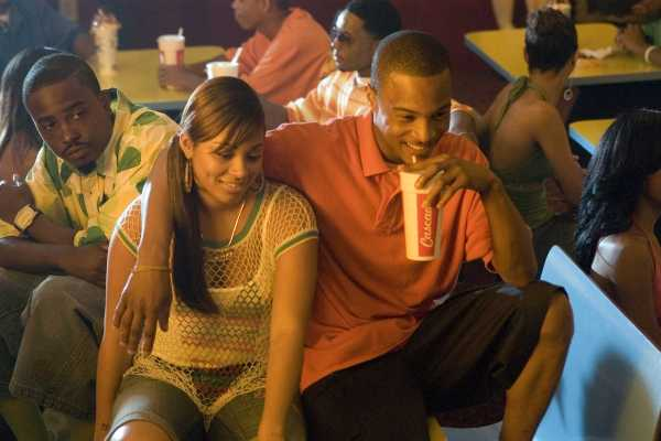 """JASON WEAVER as Teddy, LAUREN LONDON as New-New and TIP """"T.I."""" HARRIS as Rashad in Warner Bros. Pictures' music-driven coming of age story, ATL."""