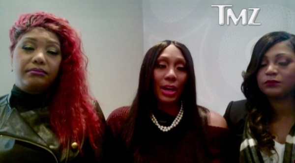 (L-R): Traci, Towanda and Trina Braxton (TMZ)