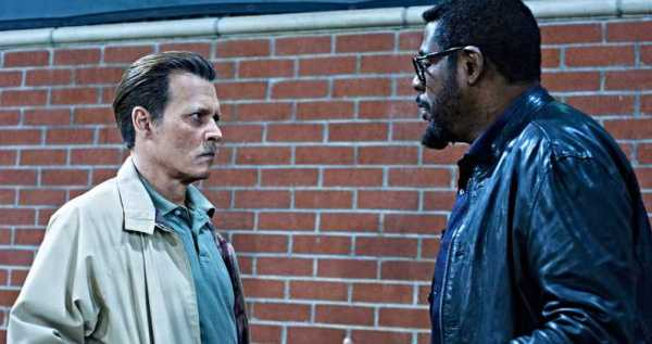 "Johnny Depp (L) in ""City of Lies"""