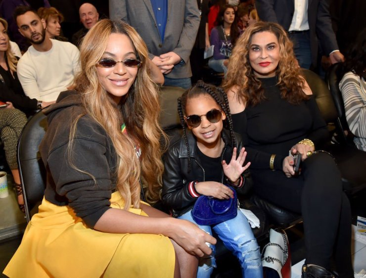 Beyoncé, Blue Ivy, and Tina Lawson