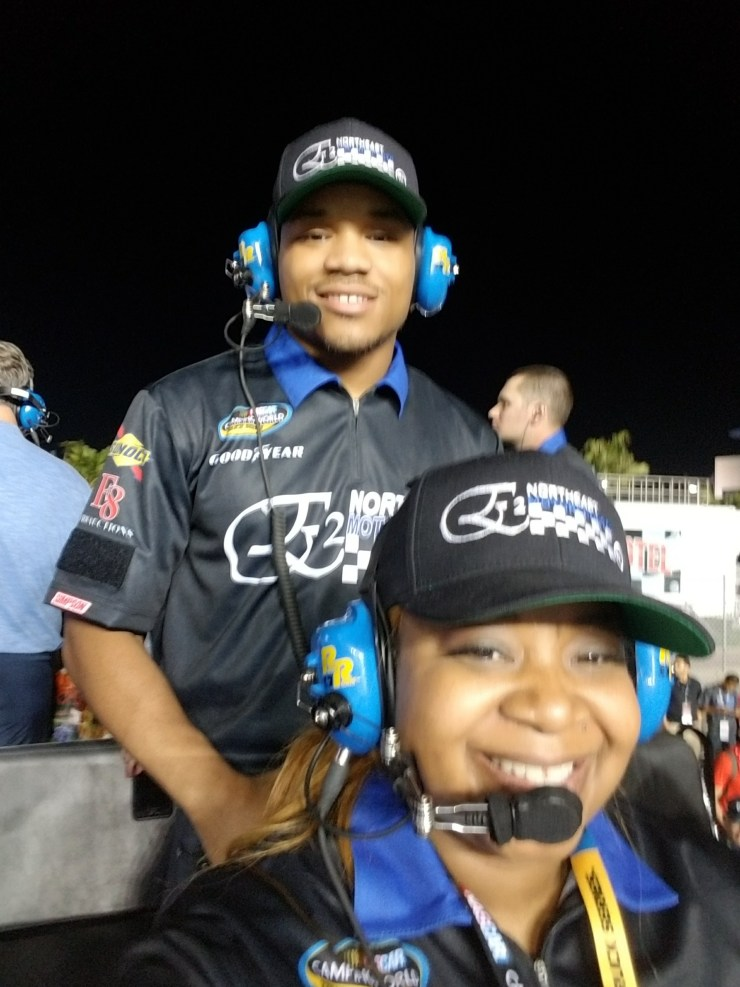 Melissa Harville-Lebron is attending a race with one of her sons. (Photo credit Melissa Harville-Lebron)