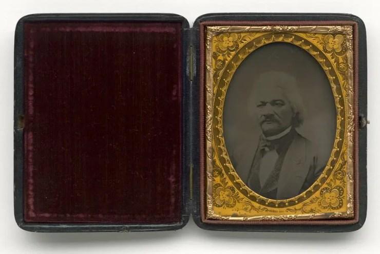 frederick douglass - folding leather case