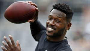 Antonio Brown (with football - getty)