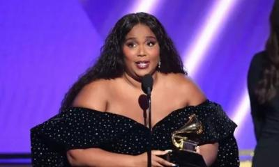 Lizzo with Grammy1
