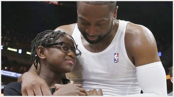 dwyane-wade and son zion