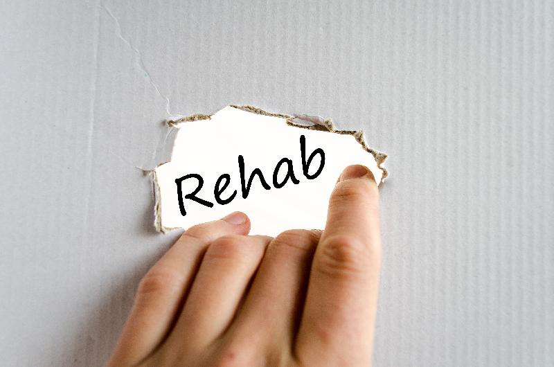 rehab text-concept - yayimages