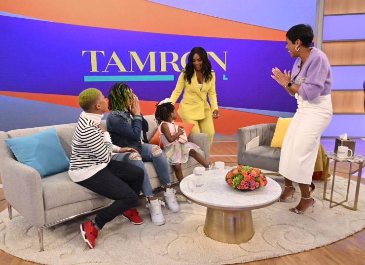 Tamron brings out actress Angela Bassett to give a special message to Shabria and Ashante