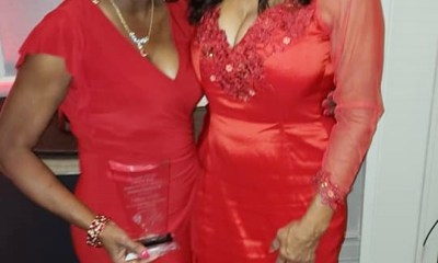 LaRita Shelby and Kathleen Bradley at Lady in Red Awards 2020