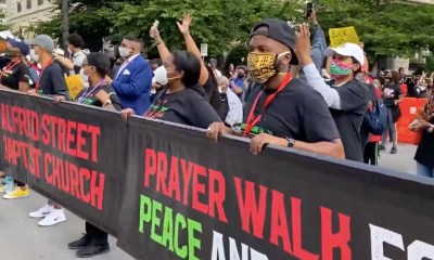 Worship service at DC's new Black Lives Matter Plaza