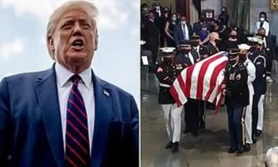 Trump - John Lewis - casket capitol rotunda