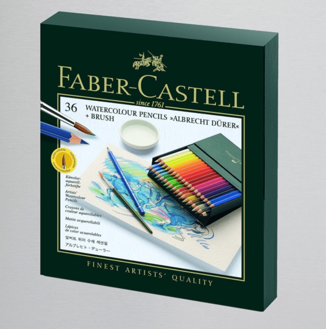 photo pf faber castell water colours box of 36 pencils