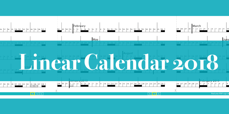Linear Calendar Jan 2018 Feb 2019 Sophia Exintaris Eurydice13
