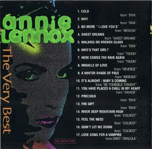 Annie Lennox No More I Love Yous