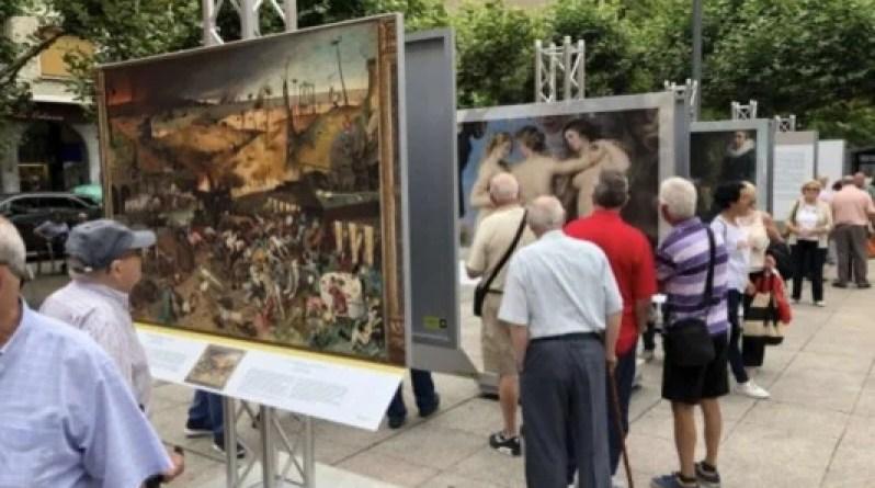 Más de 40.000 personas visitan la exposición «El Museo del Prado en las calles» en Eibar,