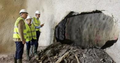 Completan el primer cale del túnel de línea en Bentaberri (Donostia) con éxito,
