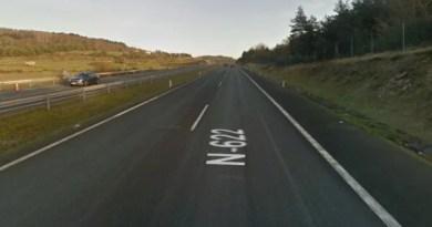 Tres personas resultan heridas en un accidente en la N-622 en la localidad de Zuya,