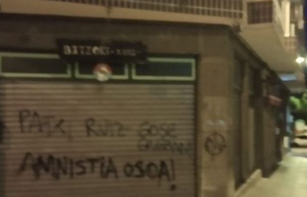 Continúan los ataques contra sedes de partidos en Bizkaia,