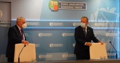 Estiman la caída del PIB en Euskadi para 2020 del -8,7%, siendo el crecimiento previsto en 2021 del 6,7%,