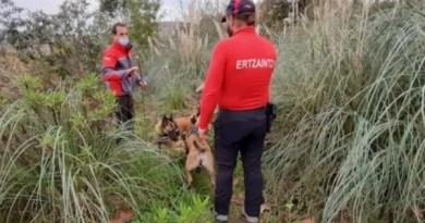 Reanudan los trabajos de búsqueda de más restos humanos en el monte Rontegi de Barakaldo,