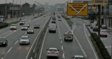 Comienzan las obras para reordenar el tráfico de La Avanzada en Leioa en la calzada sentido Bilbao,