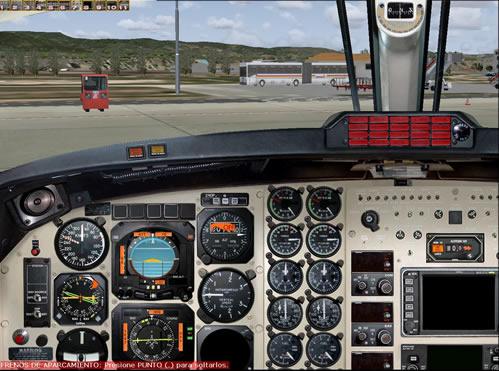 Panel 2D analogico de Super King B200 de Aeroworx