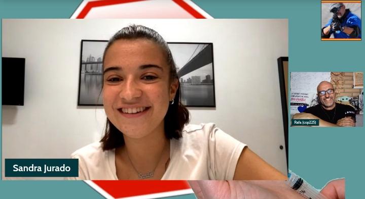 La entrevista del mes, para Rafa Navarro (cop225) por su charla con Sandra  Jurado, la joven que vive con un marcapasos tras vacunarse  