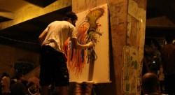 O duelo de MCs conta com outras manigestações artísticas, como o grafitti