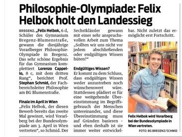 VN-Heimat Bregenz 9.1.17 Philosophieolympiade