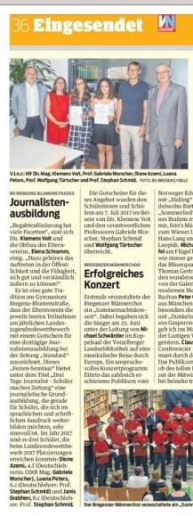 VN-Heimat Bregenz 13.7.17 Journalistenausbildung
