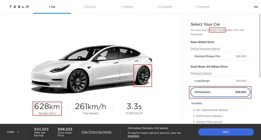 Model 3 Performance tesla .com