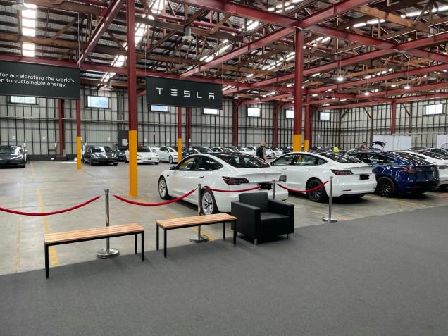Tesla delivery centre
