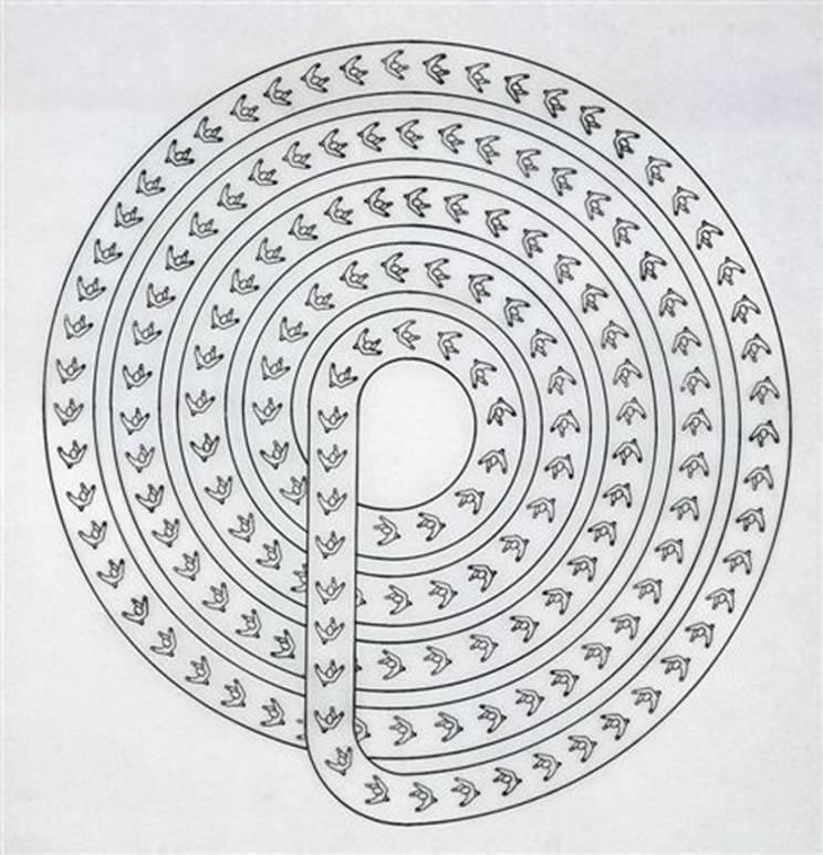 León Ferrari. Espiral c. 1982, 2007 Da série Heliografias, Coleção Tate Modern