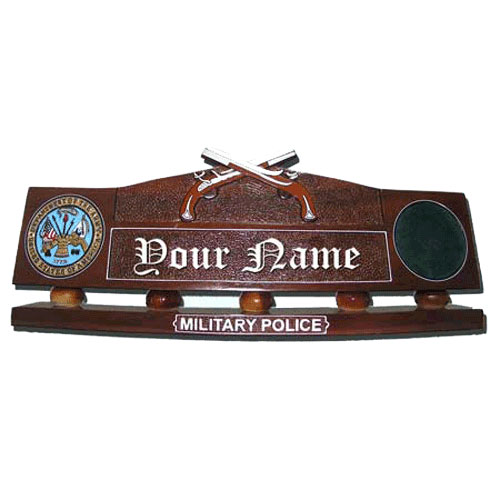 Military Police Desk Nameplate  Plaques and Patches