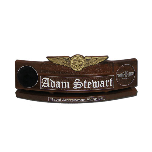 US Military Enlisted Aircrew Badge wooden desk nameplates