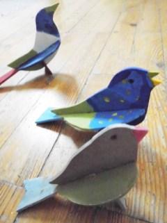 Vögel_Bewohnerarbeit_gestecktes Holz_Pflegeheim