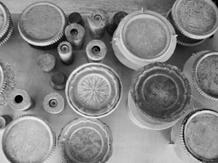 Schalen, Kerzenständer_Beton, Metall