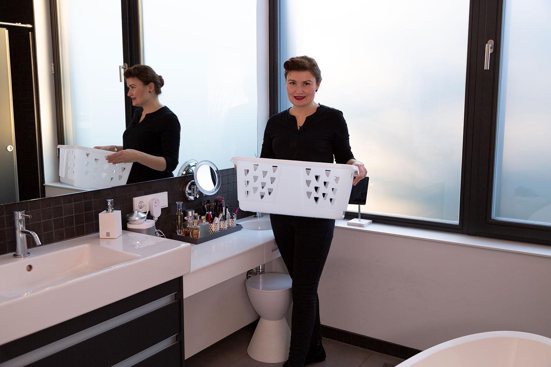 Ordnung schaffen im Badezimmer