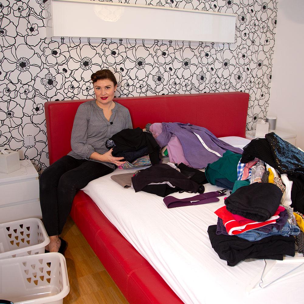 Ordnung schaffen Schlafzimmer Kleiderschrank