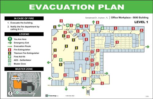 International Building Code Diagrams Evacdisplays Manufacturing Plant Amp Large Facility