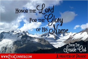 Honor God for the Glory of His Name