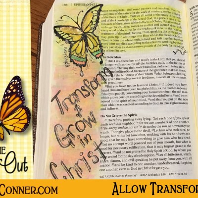 Allow Transformation – Become A New Person