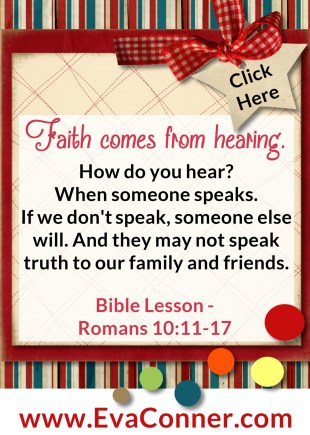 Faith comes from hearing