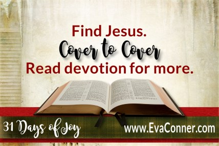 31 Days of Joy - Day 12 - Find Jesus Cover to Cover