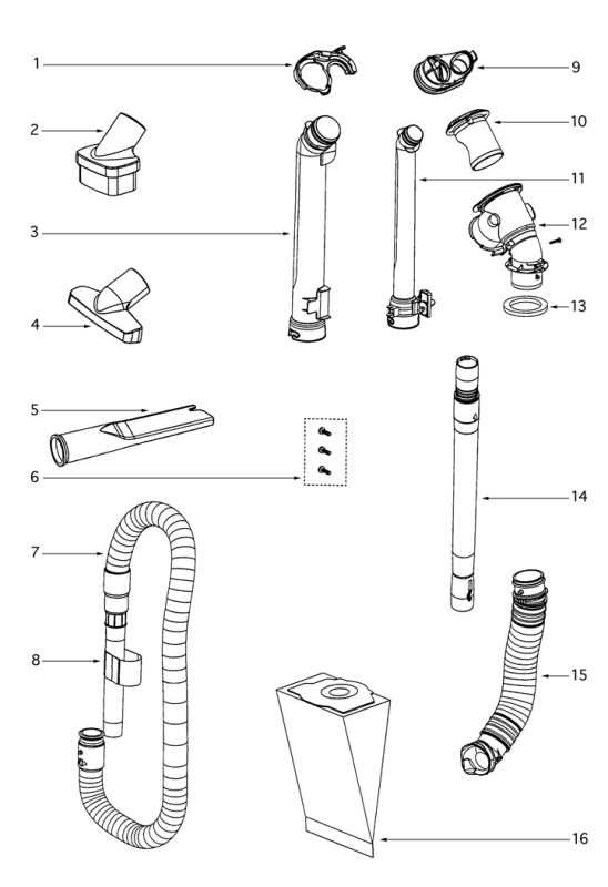 Eureka Vacuum Parts Diagrams + Schematics 4870GZ