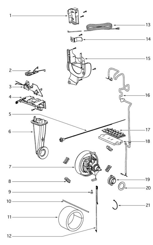 Eureka 4870J Ultra Smart Vacuum Factory Parts Diagrams and