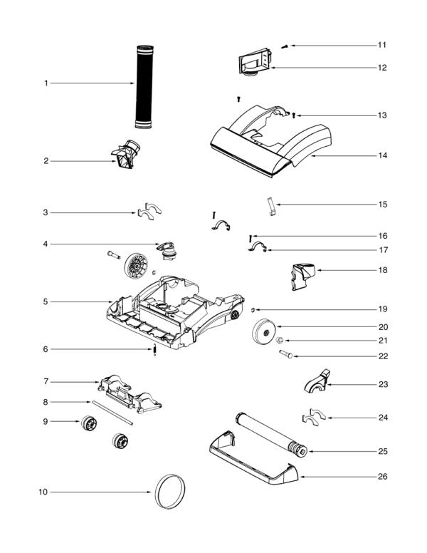 Eureka Litespeed Vacuum| Model 5892|Parts Diagrams