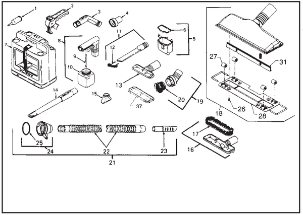 Kirby Sentria Vacuum Parts Diagrams & Schematics