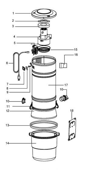 Beam by Electrolux SC275C Parts Diagram | eVacuumStore